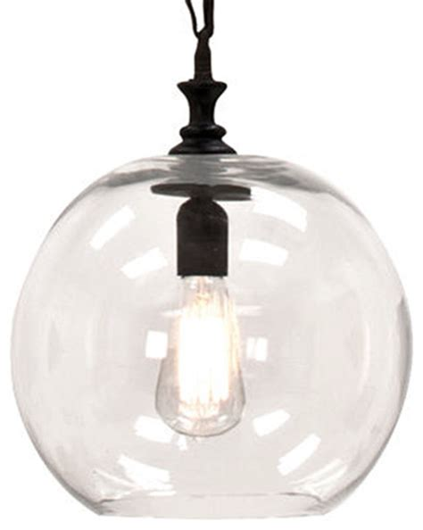 amazing of clear globe pendant light clear glass globe