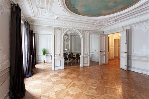 petits meubles de cuisine appartement haussmannien classique chic salle à manger