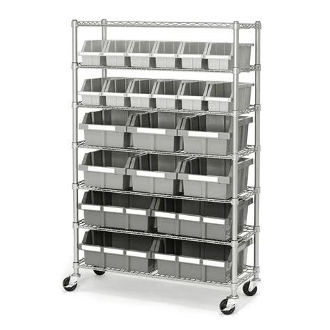 industrial storage racks industrial garage 22 bin storage shelving
