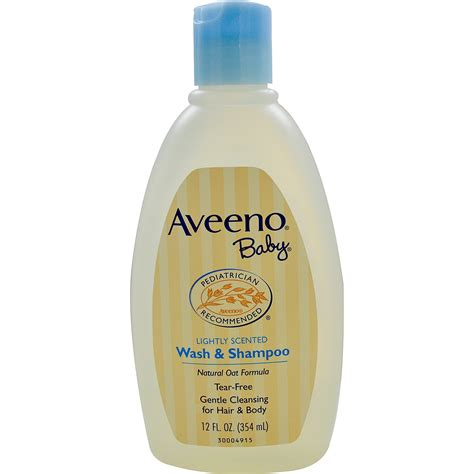 Aveeno, Baby, Wash & Shampoo, Lightly Scented, 12 Fl Oz