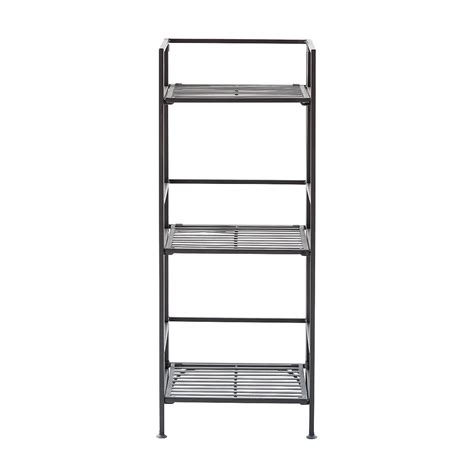 container store folding bookcase 3 shelf iron folding bookshelf the container store
