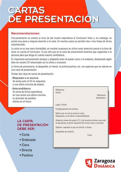 carta de presentacion parte  empleo  cartas