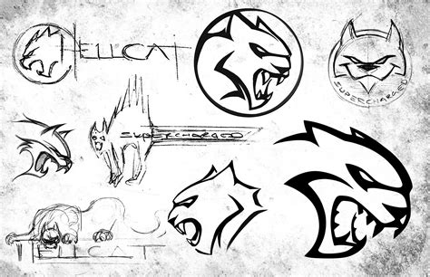 The Evolution Of The Hellcat Logo