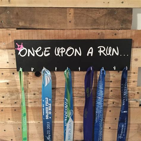 medal hanger holder display runner once upon a by cherrychipcafe pallet craft pinterest