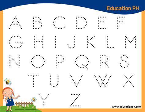 preschool worksheets alphabet tracing  coloring