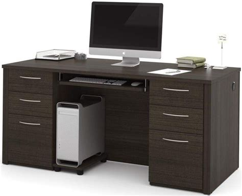 embassy chocolate 66 quot executive desk kit from bestar