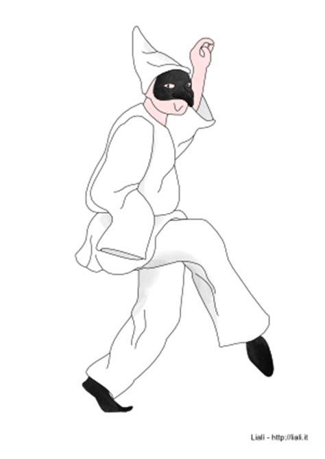 maschera  pulcinella da colorare