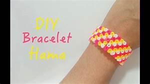 Comment Faire Un Bracelet En Perle : diy faire un bracelet avec des perles repasser hama youtube ~ Melissatoandfro.com Idées de Décoration