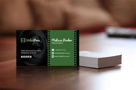 videography business card business card templates
