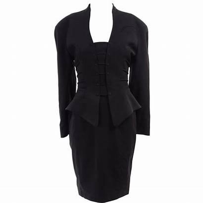 Peplum Suit Skirt Pencil Mugler Jacket Thierry