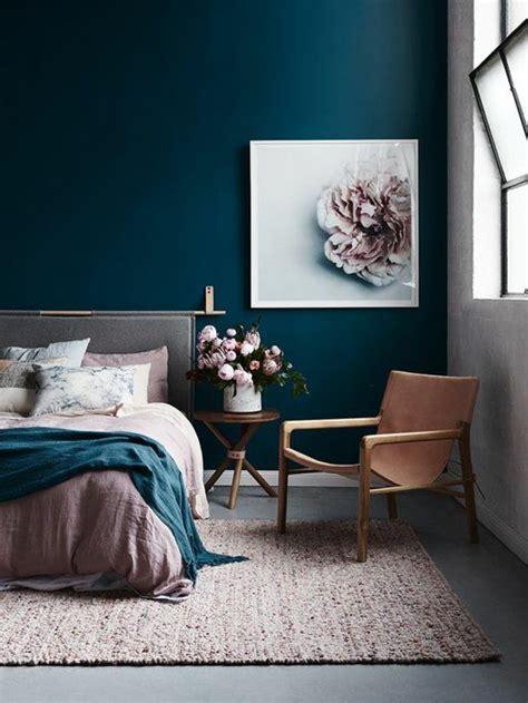 deco chambre bleue déco salon peinture glycéro chambe à coucger avec