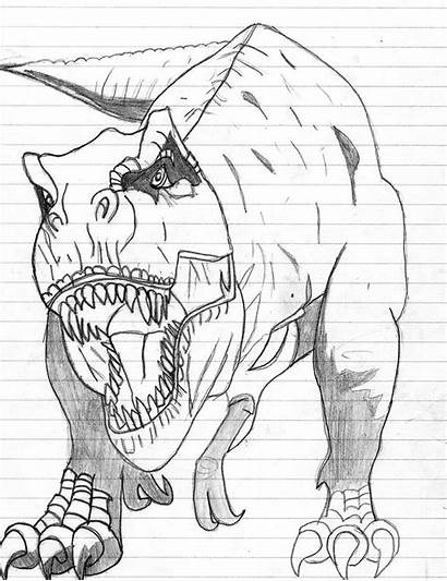 Dinosaur Coloring Pages Printable Colouring Rex Dinosaurs