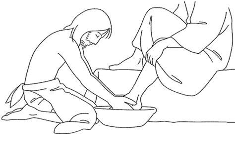 Jesus Washes The Disciples Feet Coloring Page Holy Thursday Washing Disciples39 Catholic