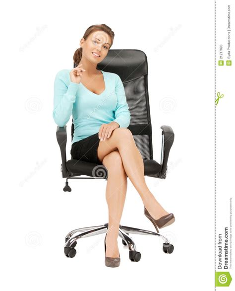 businesswoman sitting in chair stock photos image