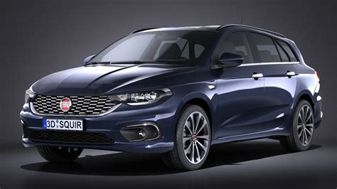 Fiat Tipo 2020 by Fiat Tipo Station Wagon 2017 3d Model Max Obj 3ds Fbx C4d