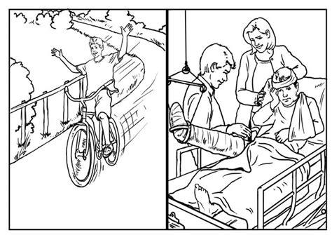 Dibujo para colorear Bicicletas seguridad Dibujos Para
