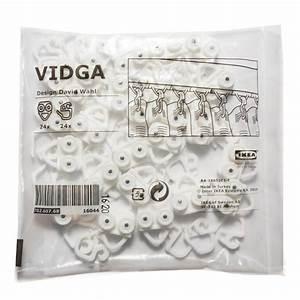 Ikea Vidga Montage : ikea vidga gardinen gleiter haken in wei 24 st ck ebay ~ Orissabook.com Haus und Dekorationen