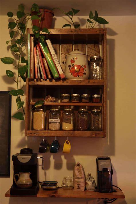 etagere de cuisine en palette kitchen pallet shelf