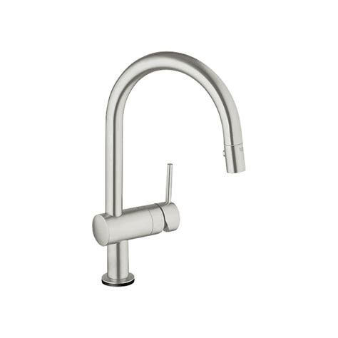 kitchen faucet grohe shop grohe minta touch supersteel pull kitchen faucet