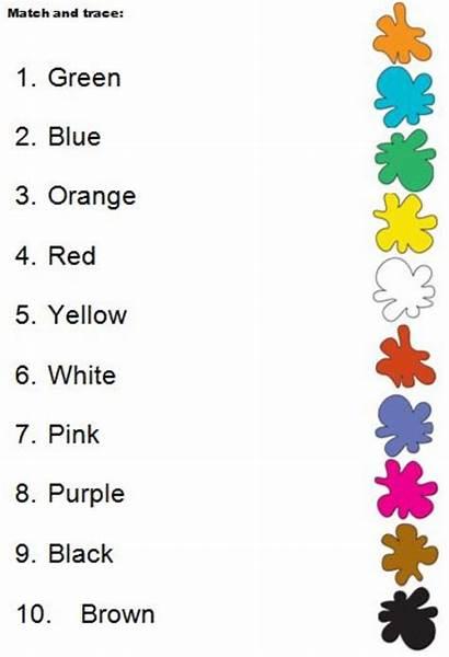 Colours Match Worksheet Worksheets English Esl Grade