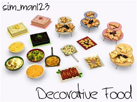sims 3 cuisine sim man123 39 s decorative food