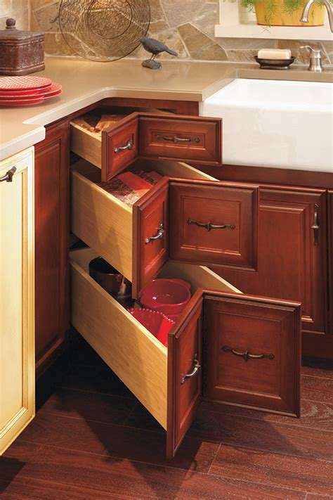 3 drawer corner base cabinet corner drawer cabinet decora cabinetry
