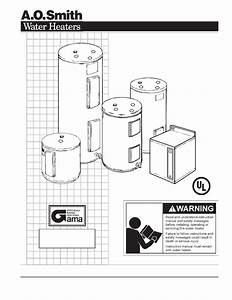 A O  Smith Water Heaters Instruction Manual