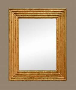 Miroir Doré Ancien : miroir bois dor ancien sculpt d cor de cannelures ~ Teatrodelosmanantiales.com Idées de Décoration