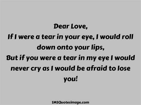 Scared To Lose Your Love Quotes