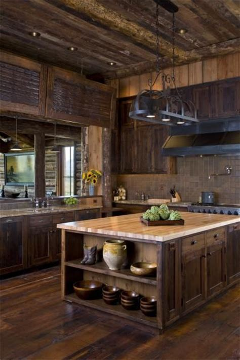 rustic cabin kitchen cabinets best 25 rustic kitchen island ideas on rustic 4962