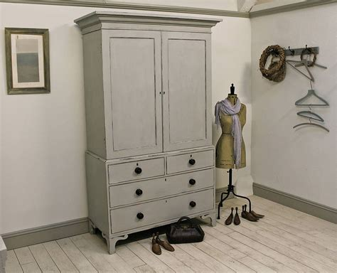 standing kitchen cabinets 19th century painted mahogany linen press by distressed 2488