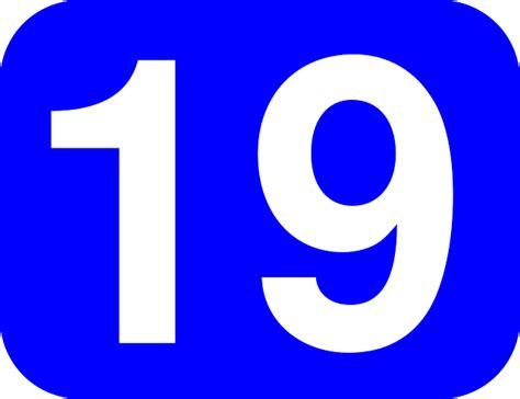 Número, 19, Redondeado, Rectángulo