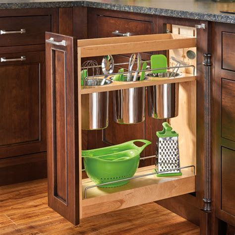 base cabinet pullout utensil organizer  blumotion soft close  rev  shelf kitchensourcecom