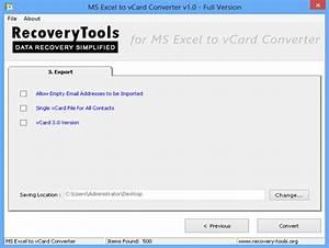 Excel Version Essai : recoverytools excel to vcard converter t l charger ~ Medecine-chirurgie-esthetiques.com Avis de Voitures