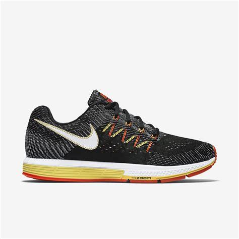nike mens air zoom vomero  running shoes blacktotal crimson tennisnutscom