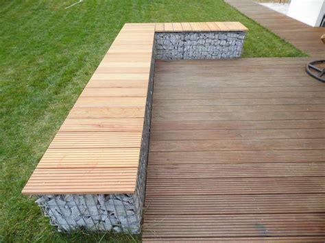Gartengestaltung Mit Gabionen by Gabionen Terrassen Bank Garapa