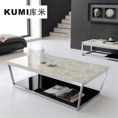 cj tables and library beige marble coffee table fashion simple 2012