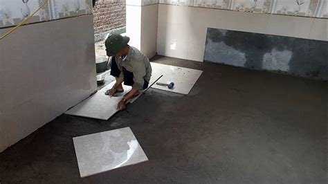 installation ceramic tiles   kitchen floor