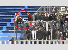SHOCKING! A Red Star Belgrade fan fell over a three meter