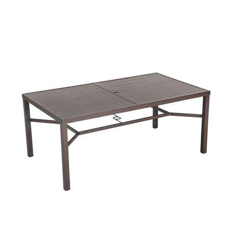 rectangular patio dining table hton bay millstone rectangular patio dining table