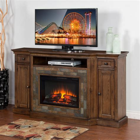 Sunny Designs Savannah 72 in. Electric Fireplace TV