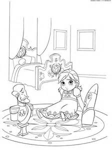 Anna and Elsa Coloring Pages Baby