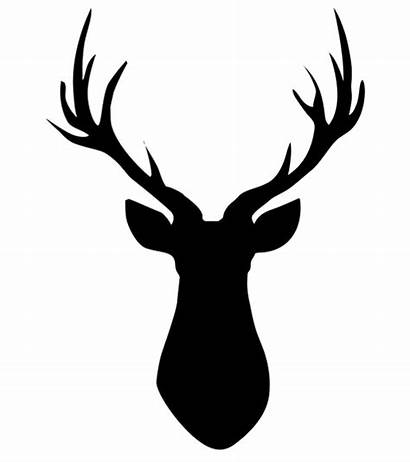 Deer Head Silhouette Clip Clipart Transparent Stag