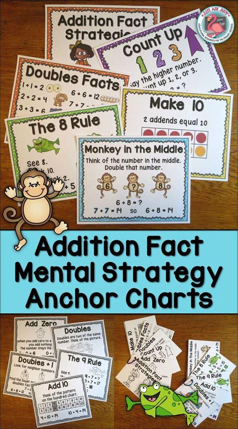 addition fact strategies anchor wall charts math fact