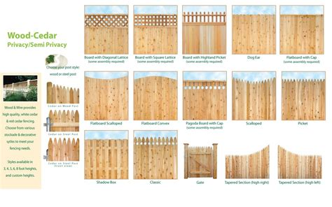 wood fence panel styles  leadsgenieus
