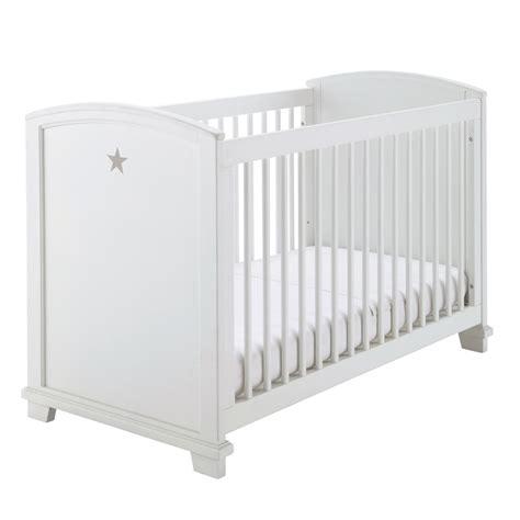 lit en toile pour bebe lit b 233 b 233 224 barreaux en bois blanc motif 233 toile l 131 cm pastel maisons du monde