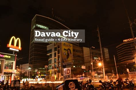 davao travel guide    dn itinerary