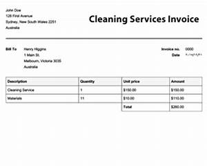 cleaning invoice template free to do list With how to write an invoice for cleaning services