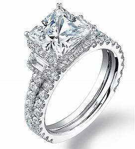 princess cut diamond engagement ring setting only in 18k With wedding ring mountings only