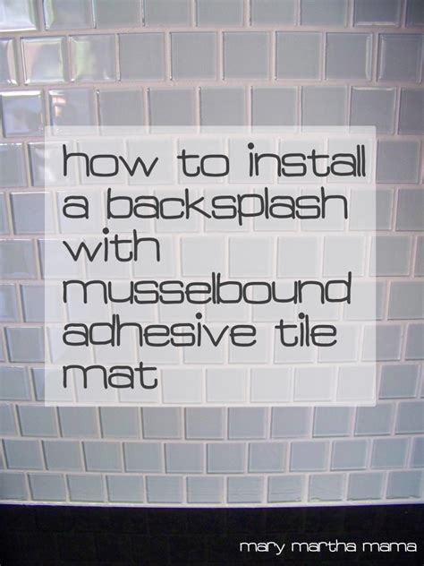 adhesive tile mat musselbound tile mat review martha